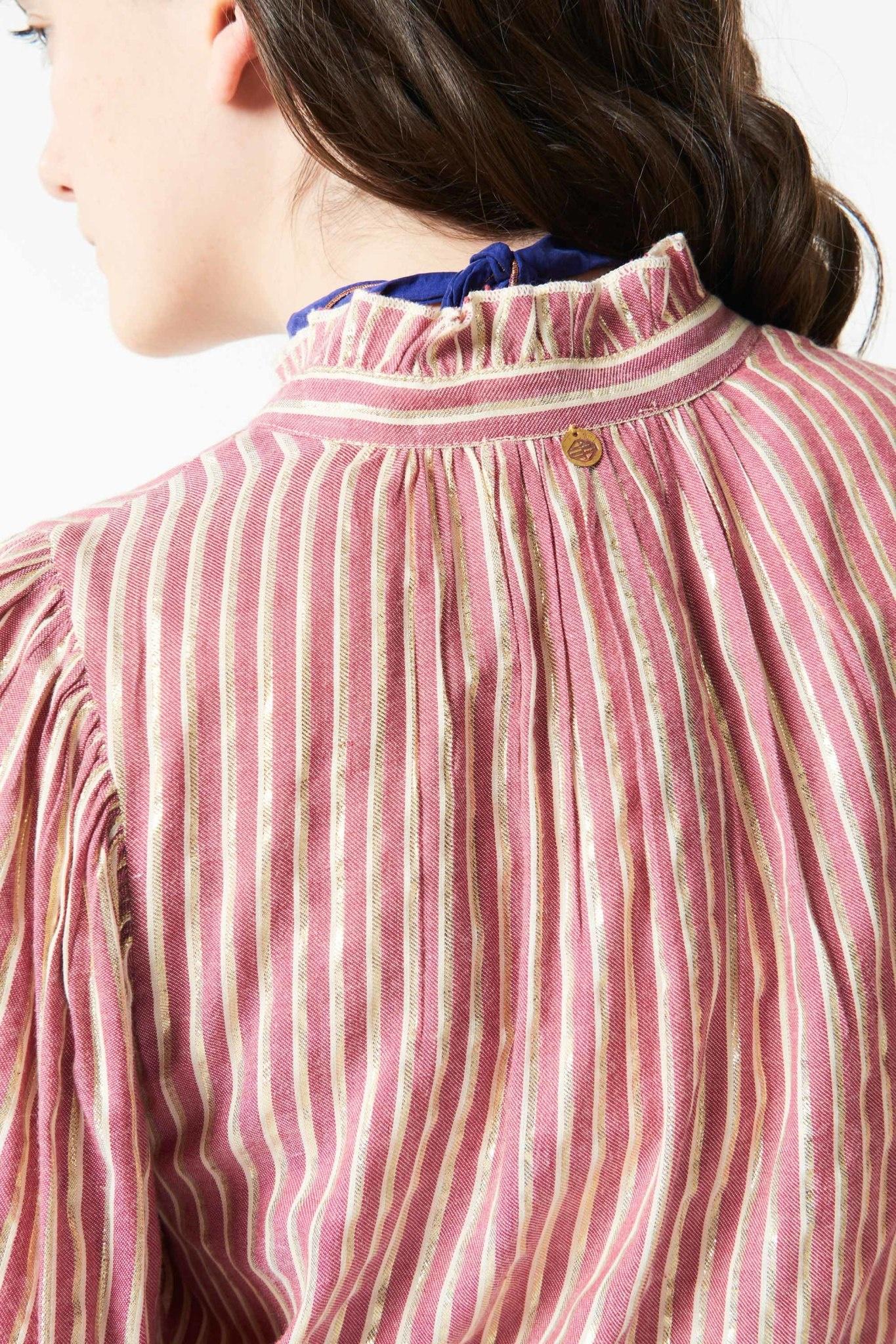 Meela stripes blouse red-5