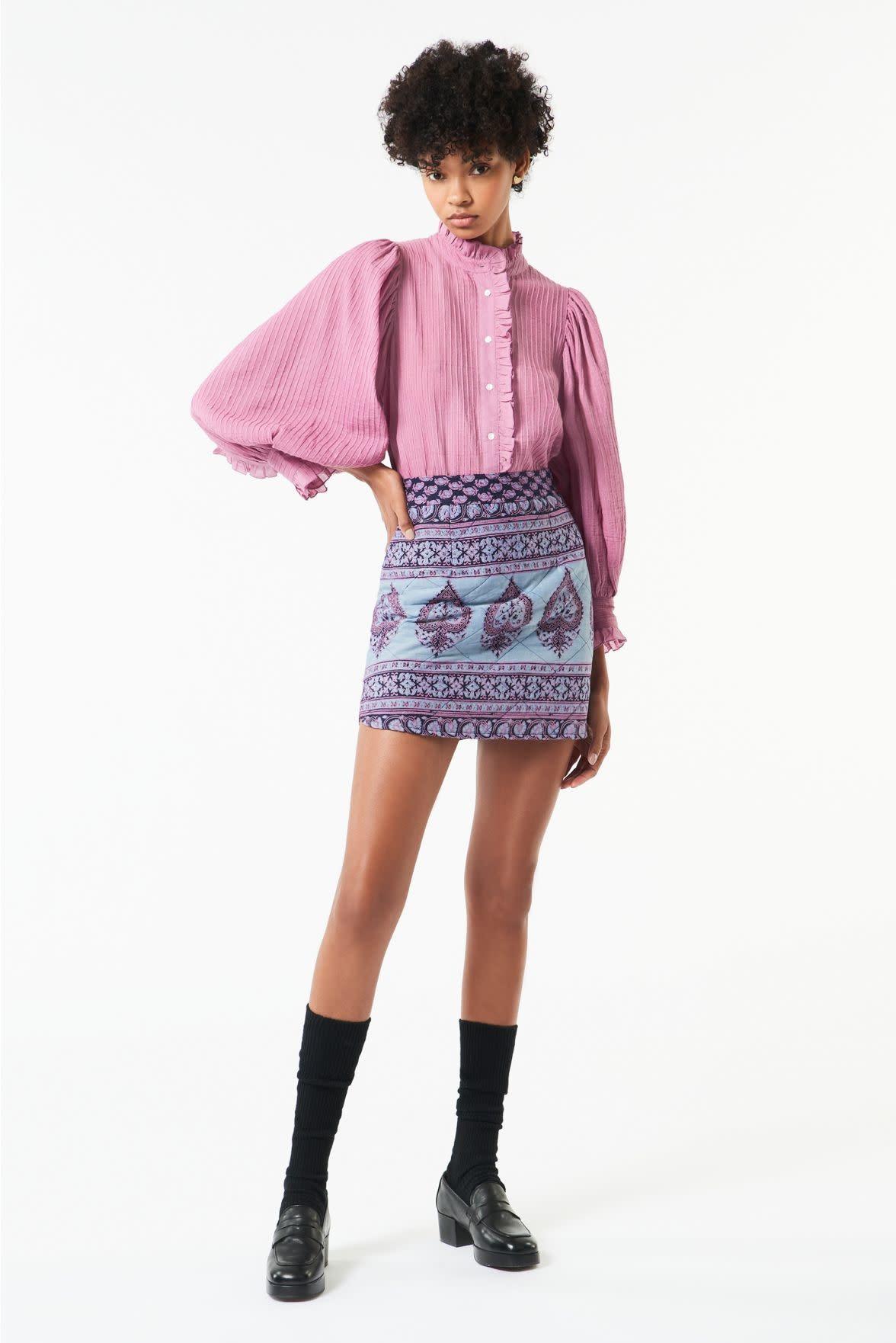 Yvette Blouse Pink-2