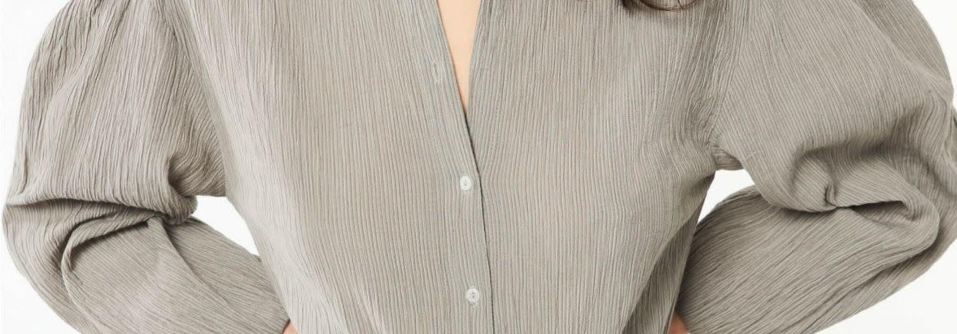 eugenie blouse grey