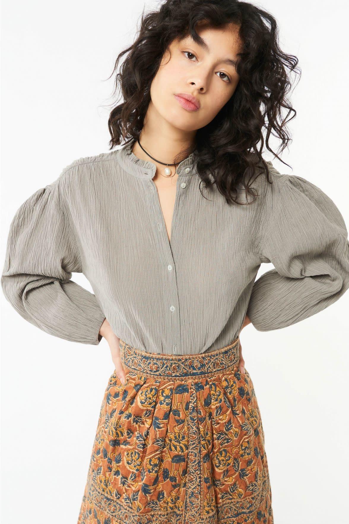 eugenie blouse grey-1
