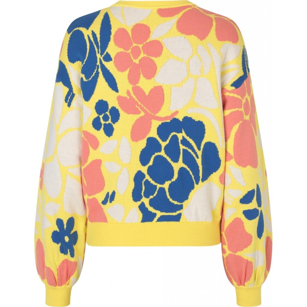 Karli Banana Leaf Knit Yellow-7