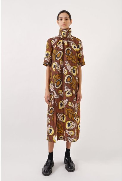Angie Dress autumn leaves brown
