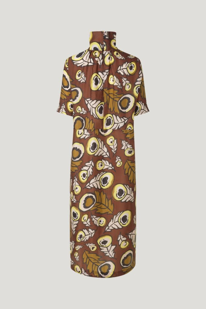 Angie Dress autumn leaves brown-3