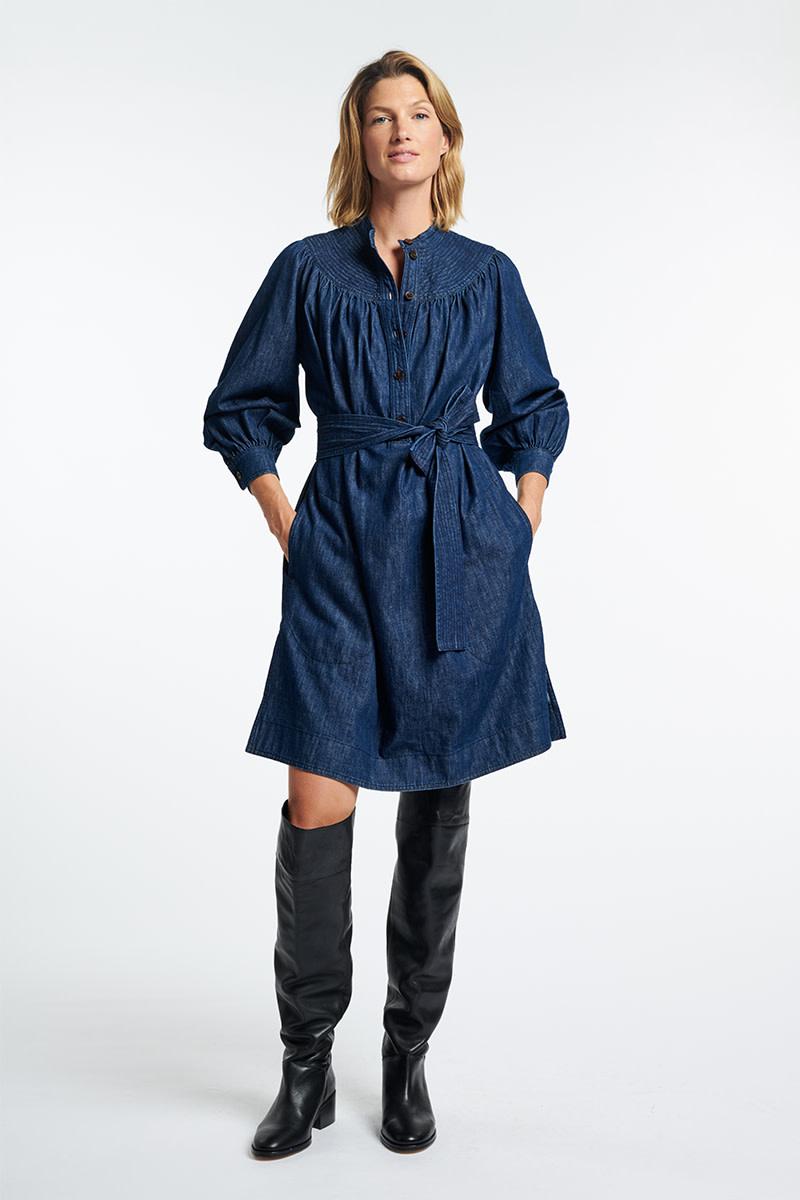 Stessie dress denim blue-2