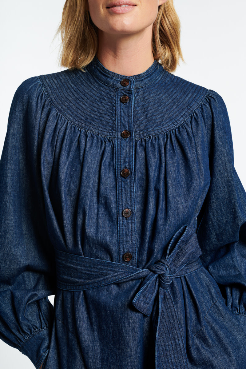 Stessie dress denim blue-4