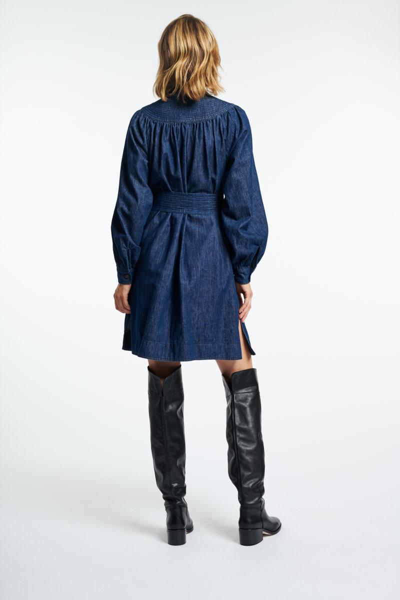 Stessie dress denim blue-5