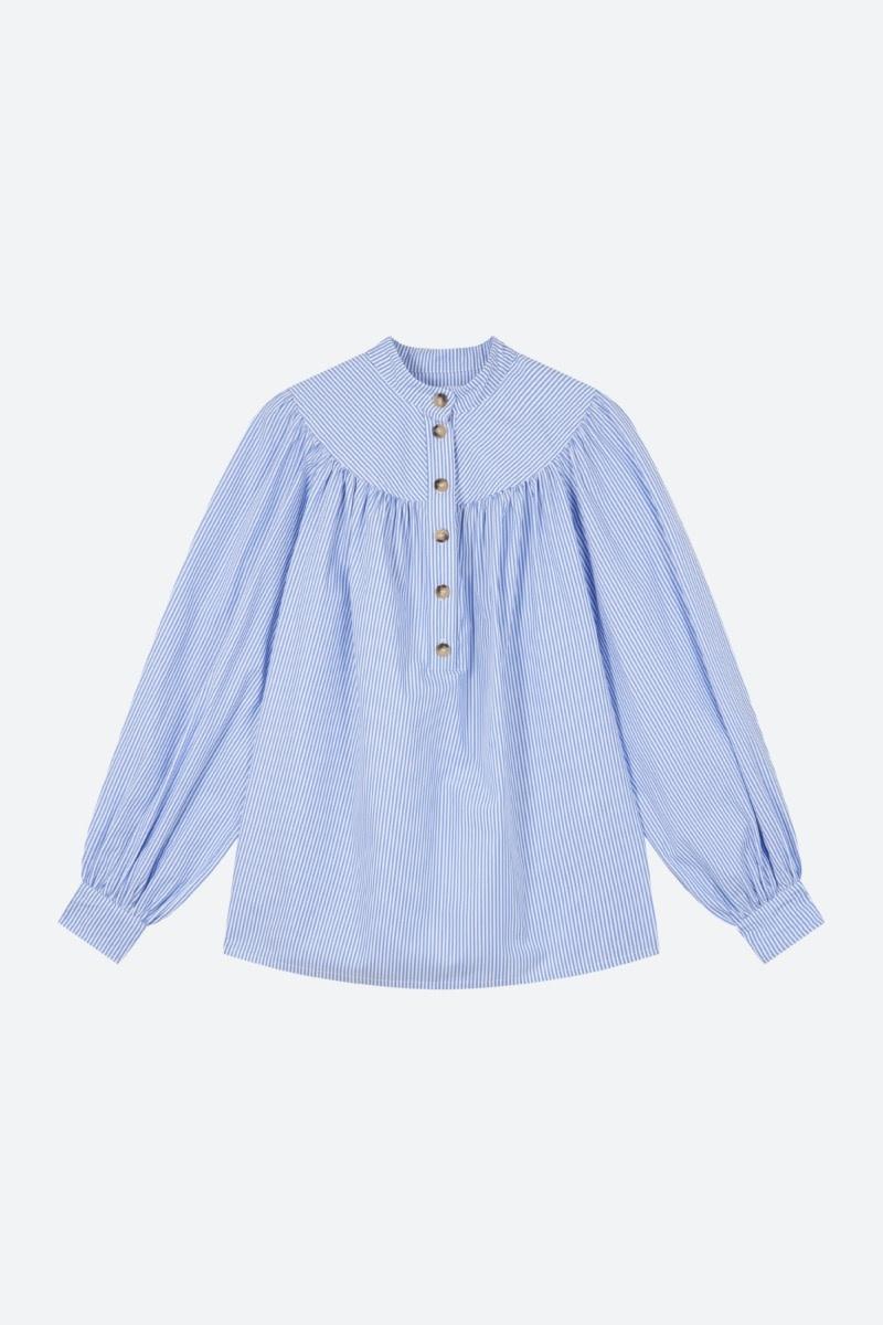 Pamina blous Blue blanc-1
