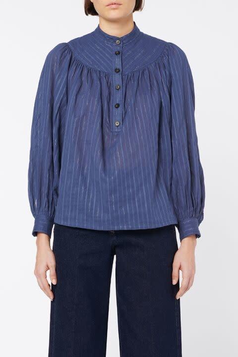 Pamina blouse blue-1