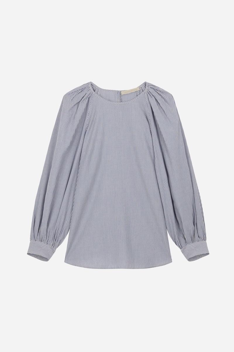 Stan blouse stripes ecru-1