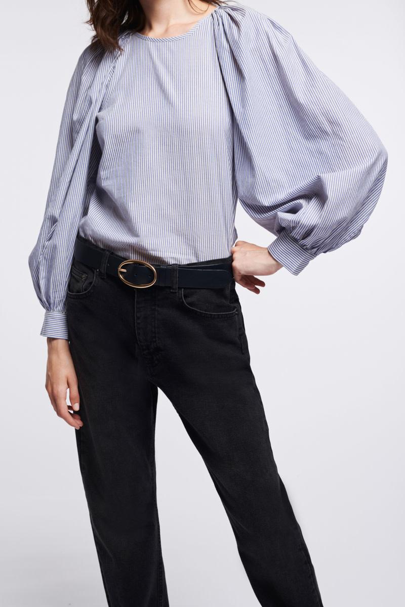 Stan blouse stripes ecru-2