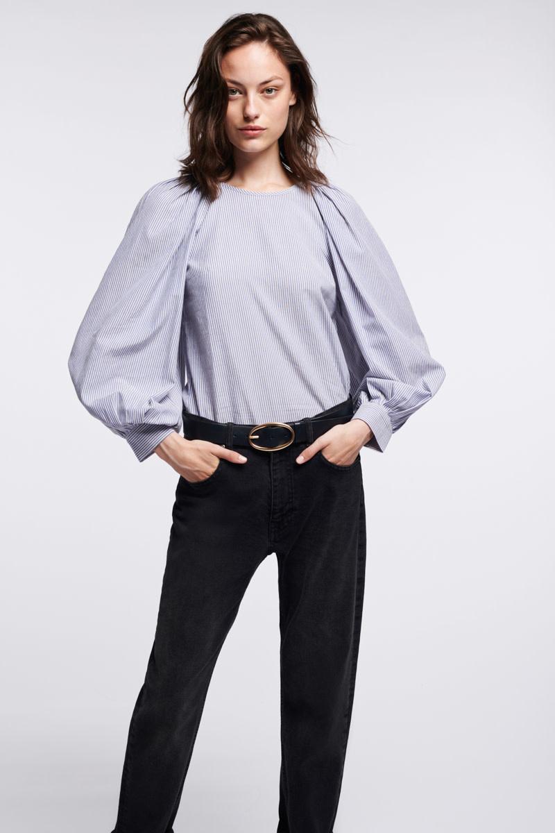Stan blouse stripes ecru-3
