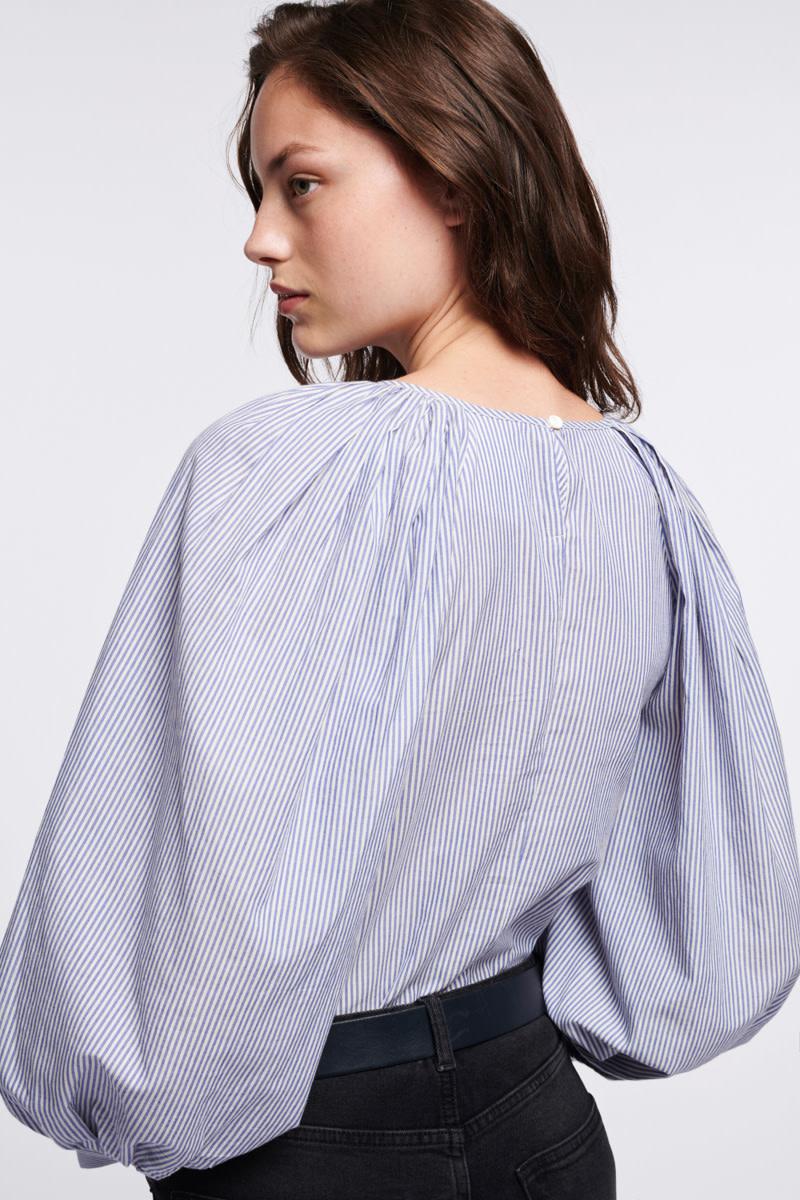 Stan blouse stripes ecru-4