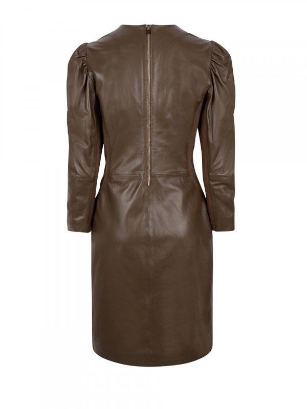 doudou leather dress smokey olive-4