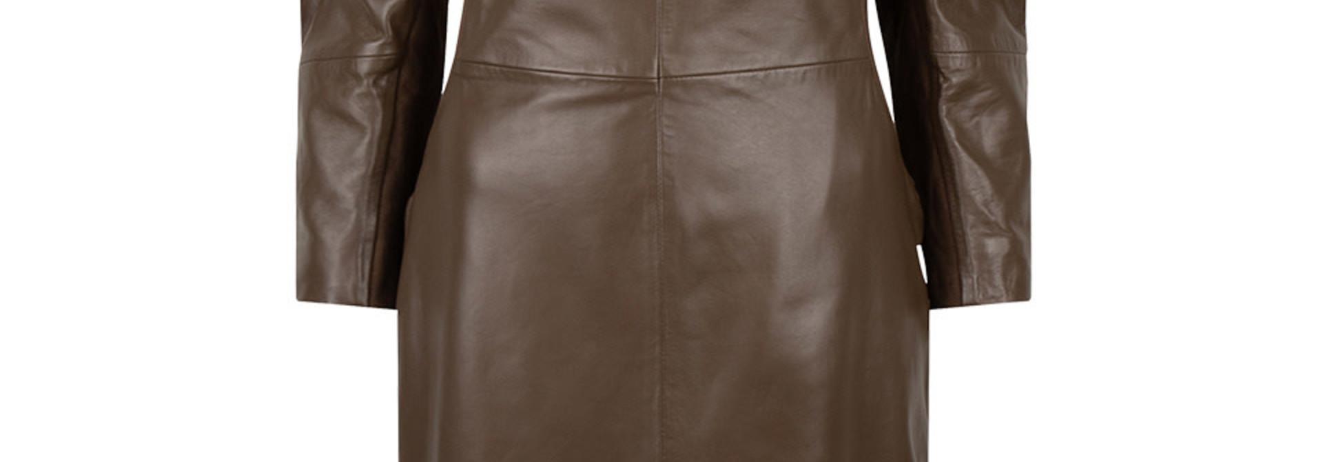 doudou leather dress smokey olive