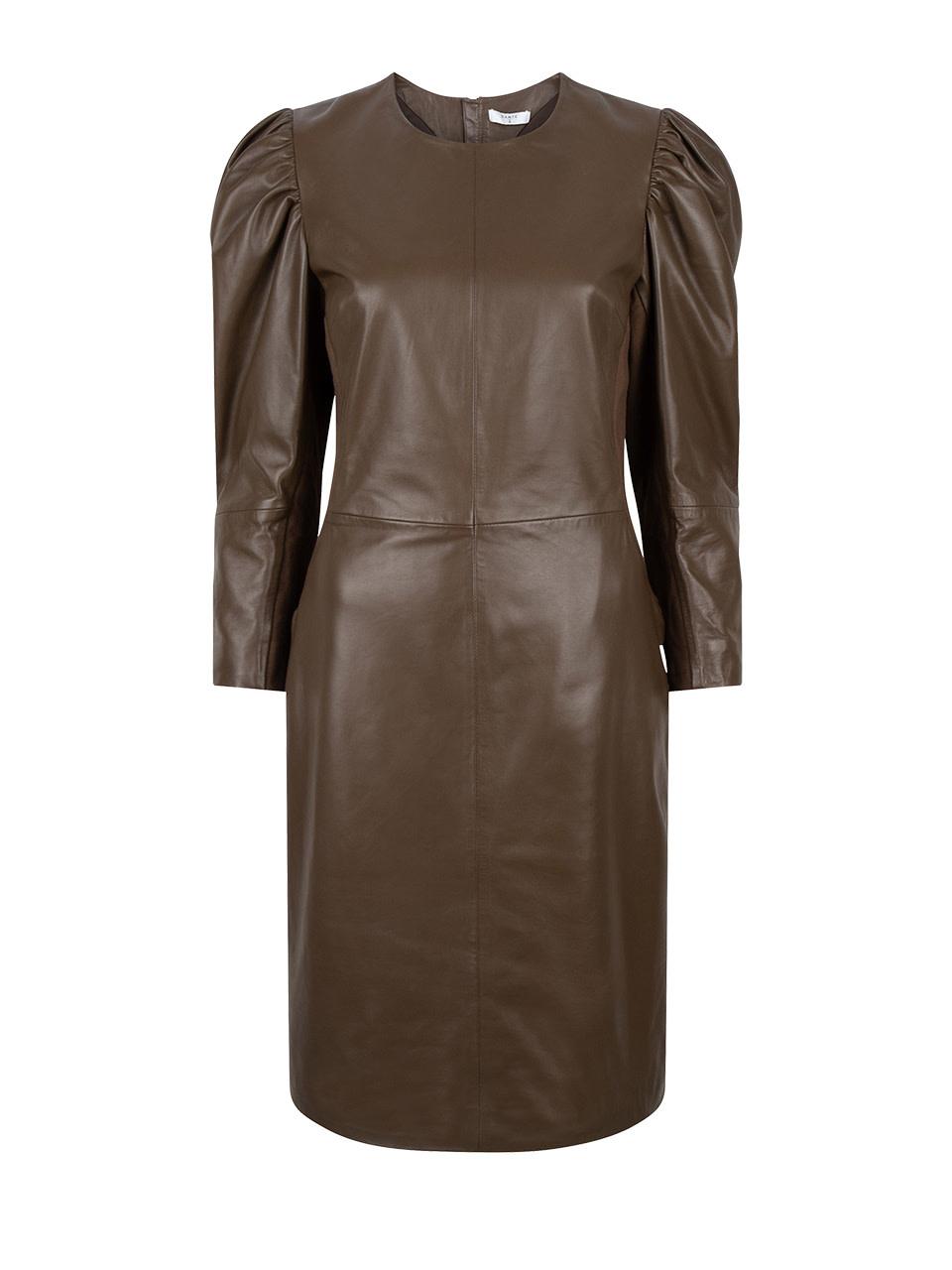 doudou leather dress smokey olive-1