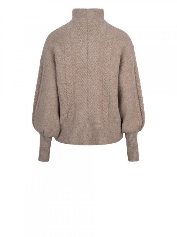 Yina zip cable sweater fungi-3