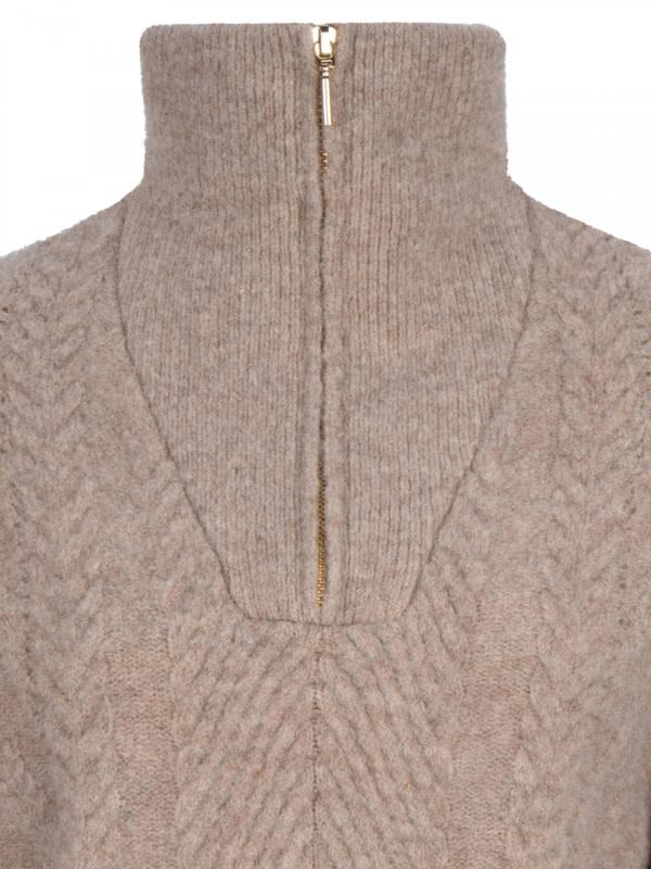Yina zip cable sweater fungi-4