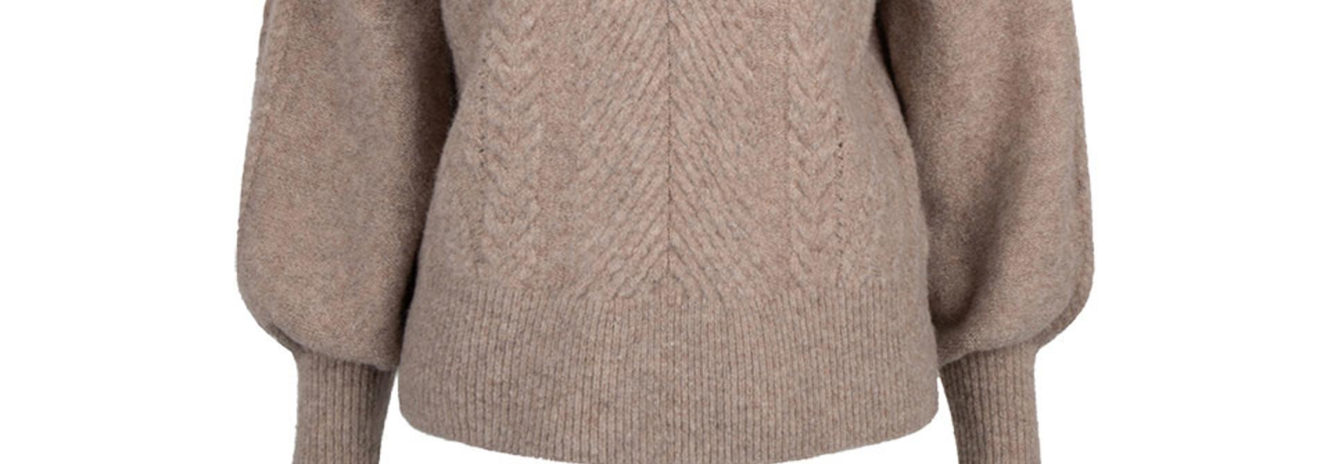Yina zip cable sweater fungi