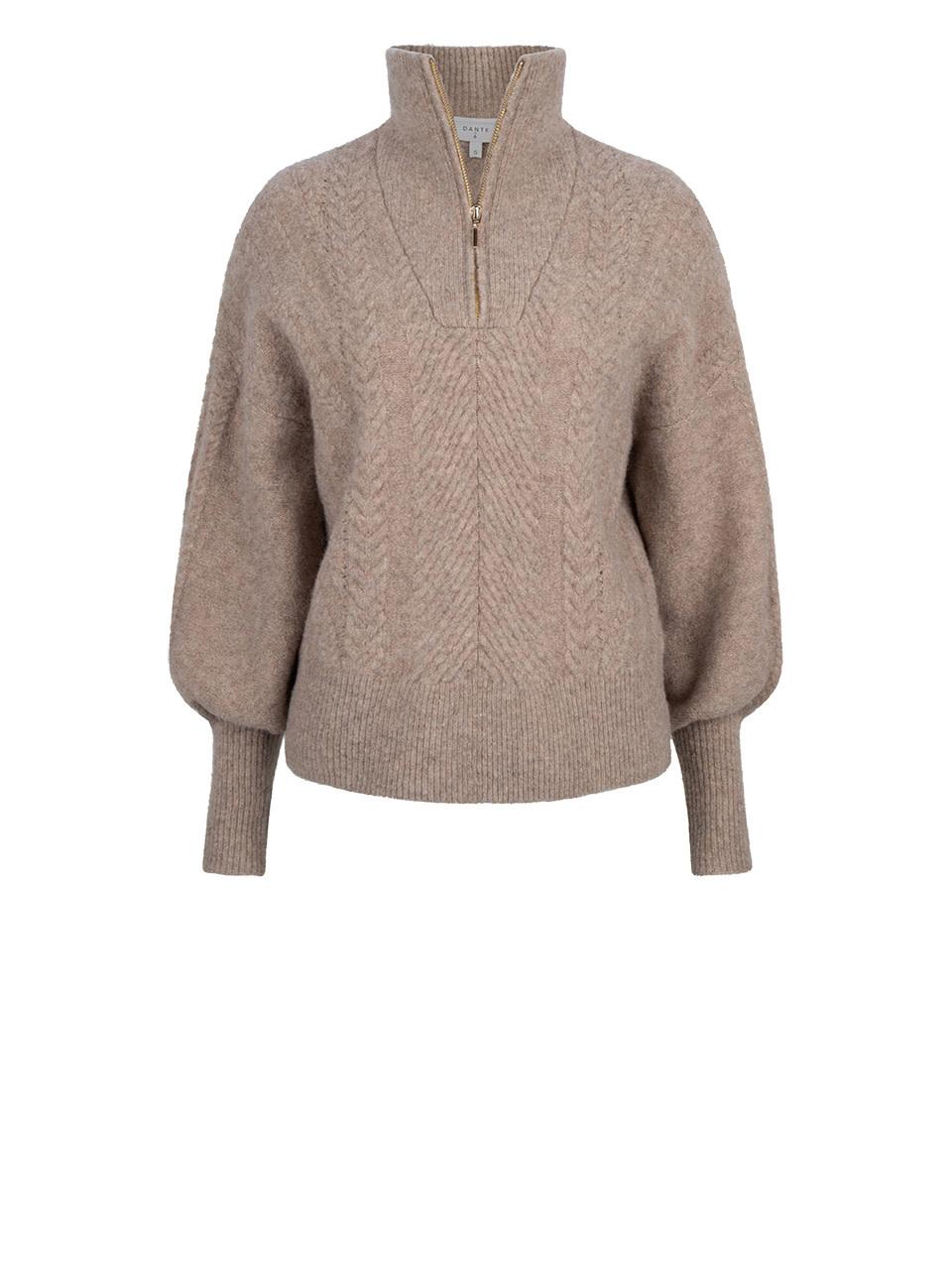 Yina zip cable sweater fungi-1