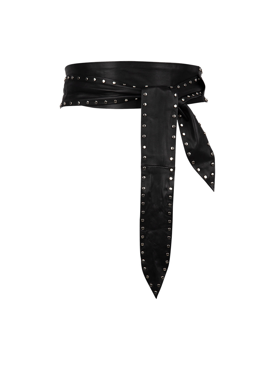 New Markala leather belt black-1