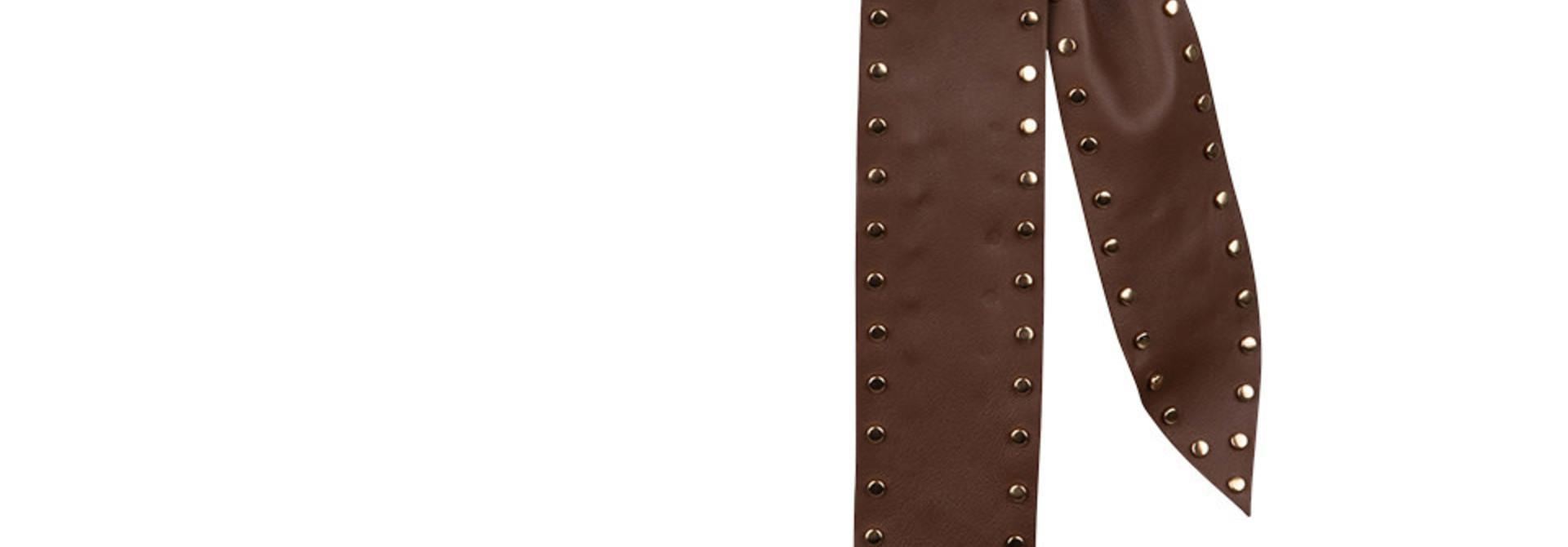 New Markala leather belt wood brown