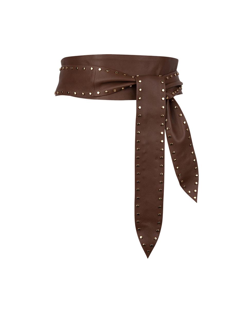 New Markala leather belt wood brown-1