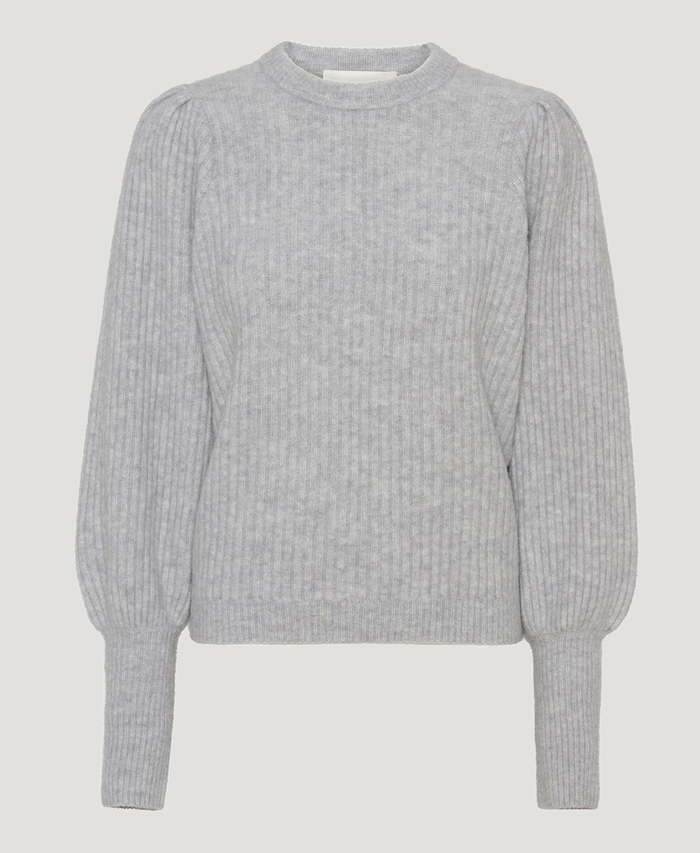 Avery blouse light grey melange-1