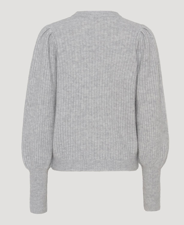 Avery blouse light grey melange-2
