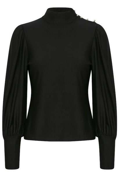 Rifa button blouse black