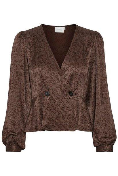 Ila blouse cinnamon square