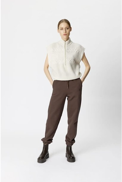 Violine zipper waistcoat egret