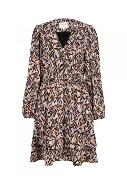 goddess print dress