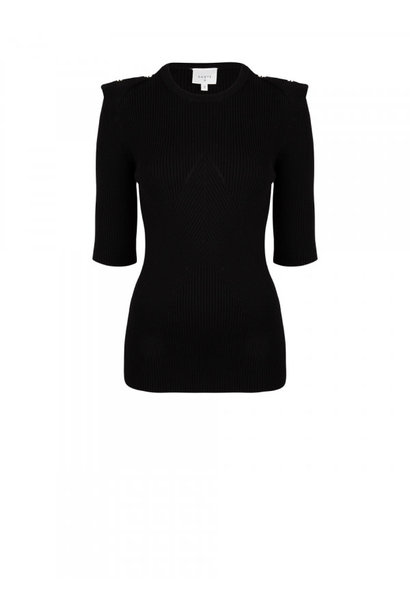 Sephine detail button sweater raven