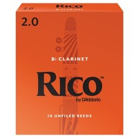 D'addario Rico Orange Box Bb Clarinet Reeds (Box of 10)