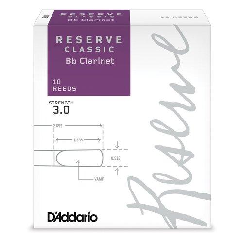 D'addario D'addario Reserve Classic Bb Clarinet Reeds (Box of 10)