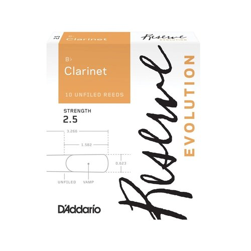 D'addario D'addario Reserve Evolution Bb Clarinet Reeds (Box of 10)