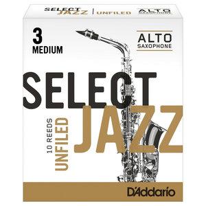 D'addario D'addario Select Jazz Alto Saxophone Reeds - Unfiled (Box of 10)