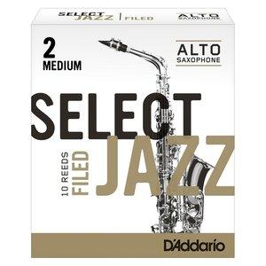 D'addario D'addario Select Jazz Alto Saxophone Reeds - Filed (Box of 10)