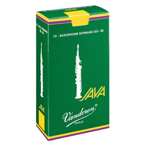Vandoren Vandoren Green Java Soprano Saxophone Reeds (Box of 10)