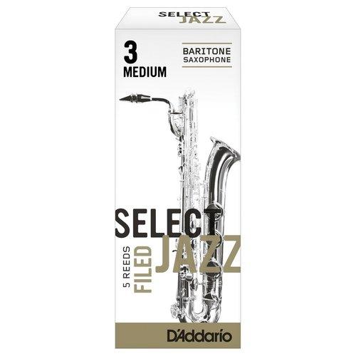 D'addario D'addario Select Jazz Baritone Saxophone Reeds - Filed (Box of 5)