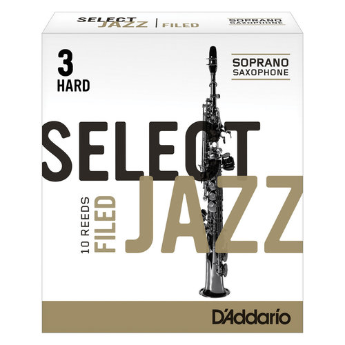 D'addario D'addario Select Jazz Soprano Saxophone Reeds - Filed (Box of 10)
