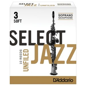 D'addario D'addario Select Jazz Soprano Saxophone Reeds - Unfiled (Box of 10)