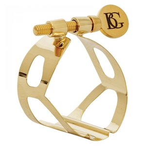 BG France BG L40 Traditional Ligature : Tenor Saxophone - Gold Lacquer