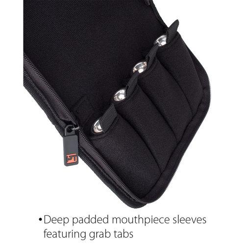 protec Trumpet Mouthpiece Pouch - Nylon  Zip Closure, 4-Piece (Camouflage)