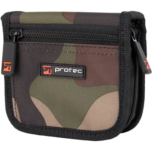 protec Trombone Mouthpiece Pouch - Nylon With Zip, 2-Piece (Camouflage)