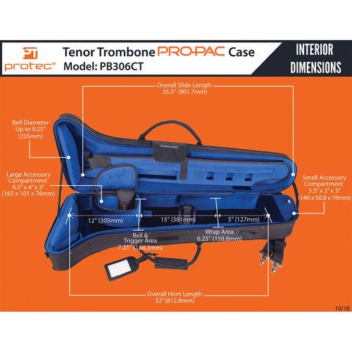 protec Protec PRO PAC Contoured Tenor Trombone Case