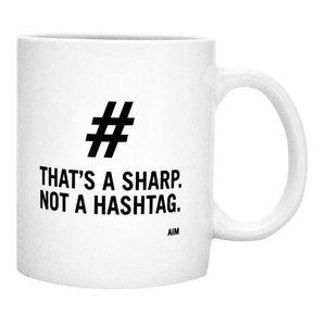 WM THAT'S A SHARP NOT A HASHTAG Mug