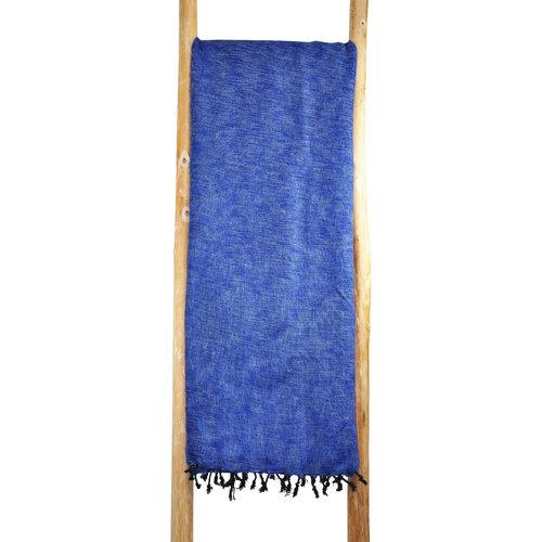 Couverture bleu jeans | Fait main au Népal | Chaud et doux | Ne pique pas.