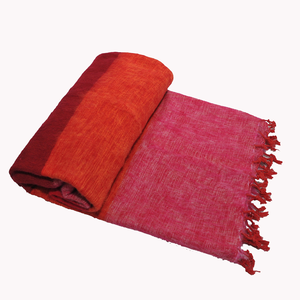 Nepal couverture Rose Orange rayé #821
