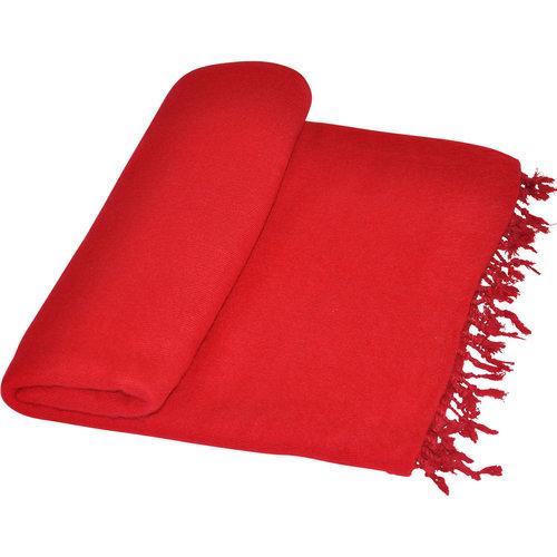 Couverture Nepal Rouge | Fabriqué à la main | Fair Trade